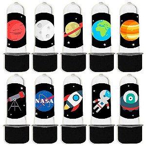 Mini Tubete para Lembrancinha Festa Astronauta - Preta - 20 unidades - Lembrafesta