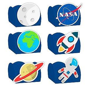 Forminha para Doces Festa Astronauta - Azul - Sortido - 24 Unidades - Lembrafesta