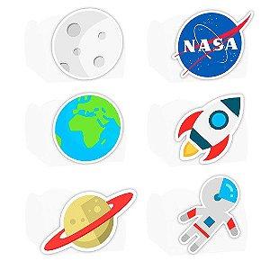 Forminha para Doces Festa Astronauta - Branca - Sortido - 24 Unidades - Lembrafesta