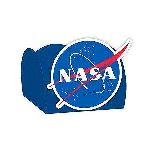 Forminha para Doces Festa Astronauta - Azul - Nasa - 24 Unidades - Lembrafesta