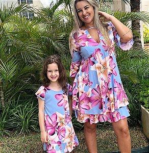 165434a4b8134a Camisetas Mãe e Filho Azul Marinho USA