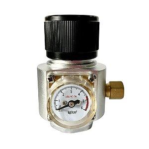 Mini Reguladora Profissional de CO2 para Cilindros com Rosca 6ACME (TR21*4)