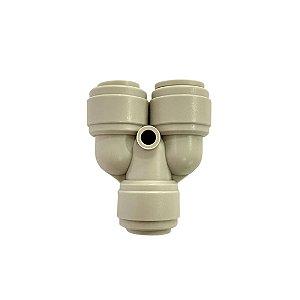 Engate Rápido 3/8 tubo 2 vias - Fluidfit HUY