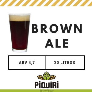 Kit receitas cerveja artesanal 20L English Brown Ale