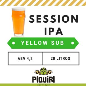 Kit receitas cerveja artesanal 20L Session IPA Yellow Sub