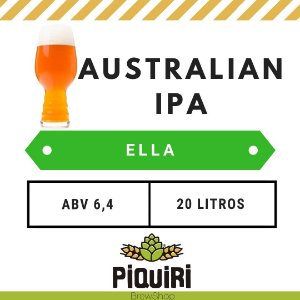 Kit receitas cerveja artesanal 20L Australian IPA Ella