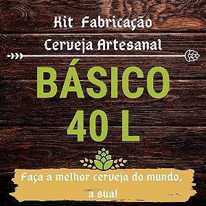 Kit Básico para Fabricação de Cerveja - 40 Litros