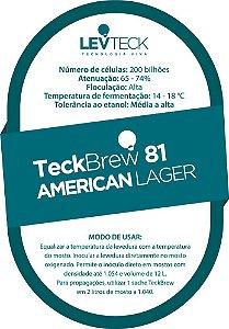 Fermento Líquido TeckBrew 81 American Lager - Sachê