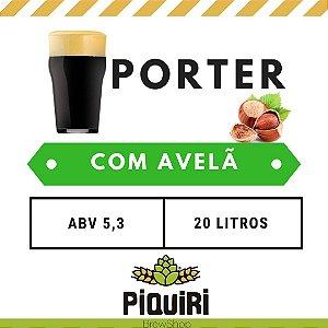 Kit receitas cerveja artesanal 20L Porter com Avelã