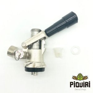 Kit: Extratora Tipo S com alavanca em plástico  e válvula de alívio + Espigão 1/4 + Espigão 3/8 + Porca