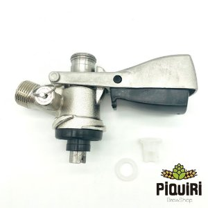 Kit: Extratora Tipo S com botão de travamento e válvula de alívio + Espigão 1/4 + Espigão 3/8 + Porca