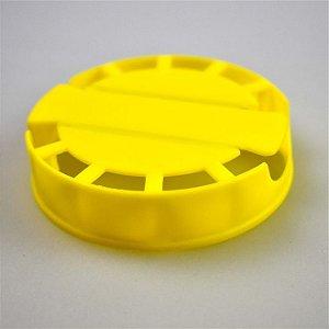 Lacre Plástico de Segurança para Barril Inox Tipo S - Amarelo - 10 Und