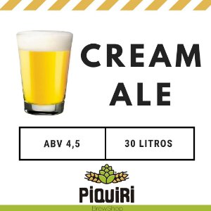 Kit receitas cerveja artesanal 30L Cream Ale