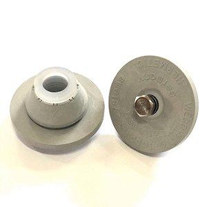 Tampão de Borracha Cinza para Mini Keg 5 Litros - COM ALÍVIO