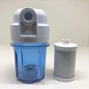 "Kit: Elemento Filtrante 5"" Carvão + Filtro de Água"