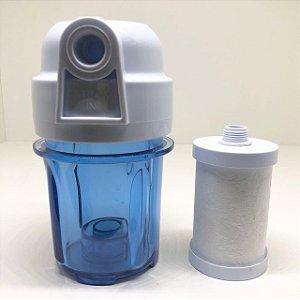 """Kit: Elemento Filtrante 5"""" Polipropileno + Filtro de Água"""