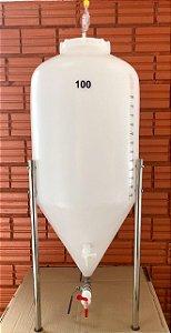 KIT COMPLETO: Fermentador Cônico Roto Plus Branco 100 Litros + ACESSÓRIOS