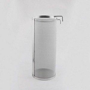 Filtro Cilíndrico com Alça e Gancho em Inox - 300 micra