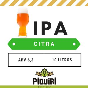 Kit receitas cerveja artesanal 10L IPA Citra