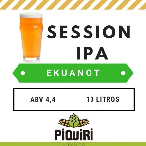 Kit receitas cerveja artesanal 10L Session IPA Ekuanot
