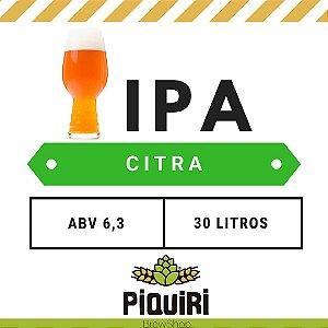Kit receitas cerveja artesanal 30L IPA Citra