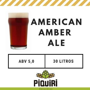 Kit receitas cerveja artesanal 30L American Amber Ale