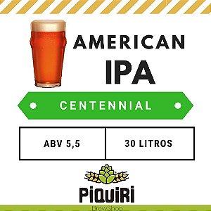 Kit receitas cerveja artesanal 30L American IPA Centennial