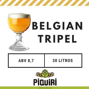 Kit receitas cerveja artesanal 30L Belgian Tripel