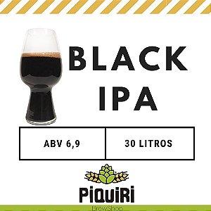 Kit receitas cerveja artesanal 30L Black IPA