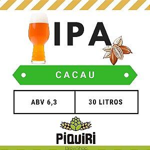Kit receitas cerveja artesanal 30L IPA com Cacau