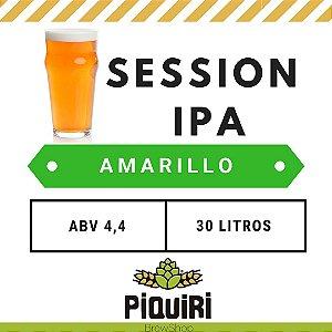 Kit receitas cerveja artesanal 30L Session IPA Amarillo