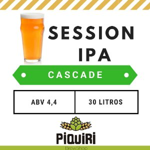 Kit receitas cerveja artesanal 30L Session IPA Cascade