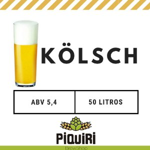 Kit receitas cerveja artesanal 50L Kolsch