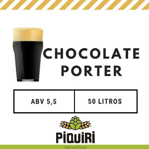 Kit receitas cerveja artesanal 50L Chocolate Porter