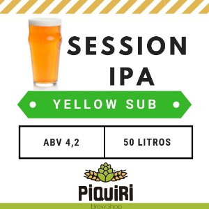 Kit receitas cerveja artesanal 50L Session IPA Yellow Sub
