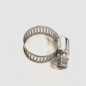 Abraçadeira Rosca sem fim em inox 13 - 19mm