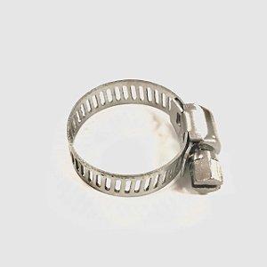 Abraçadeira Rosca sem fim em inox 16 - 25mm
