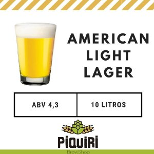 Kit receitas cerveja artesanal 10L American Light lager