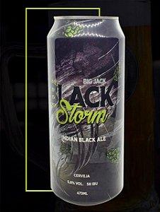 Cerveja Big Jack India Black Ale Storm - Lata 473ml