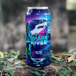 Cerveja Big Jack West Coast Pale Ale Shark River - Lata 473ml