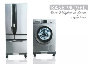 BASE MOVEL P/ GELADEIRA E MAQUINA DE LAVAR - REGULAVEL 90x90