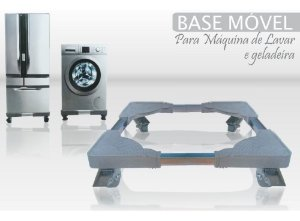 BASE MOVEL P/ GELADEIRA E MAQUINA DE LAVAR - REGULAVEL 80x80