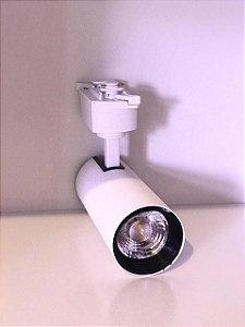 SPOT LED PARA TRILHO ELETRIFICADO BRANCO 10w 220v 6500K