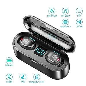 Fone De Ouvido Bluetooth Sem Fio F9 5.0