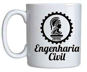 Caneca de Porcelana Branca - Engenharia Civil
