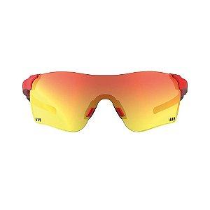 Óculos De Sol Hb Quad F Fire Red Chrome