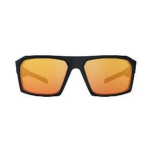 Óculos De Sol Hb Split Carvin Matte Black Red Polarized Red