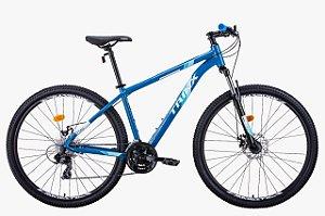 Bicicleta Trinx M100 Max 24v Azul Branco Tam 17