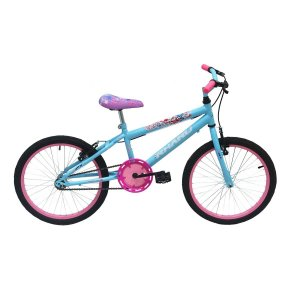 Bicicleta Infantil Rharu Aro 20 Roda Aluminio Flower Azul