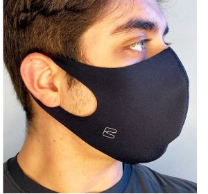 Máscara Curtlo Antiviral Preto Tam U